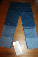 NWT Lululemon Seamlessly street crop capri ombre blue size 6 small