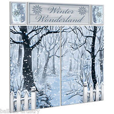 Christmas Snowy Winter Wonderland Forest Scene Setter Party Room Decorating Kit