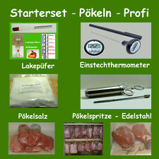 Pökeln - Starterset - Profi - Pökelspritze, Lakeprüfer, Pökelsalz - Kochschinken