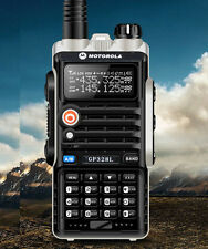 Dual Band Radio Motorola GP328L UV VHF136-174/UHF400-470 2-way Walkie Talkie