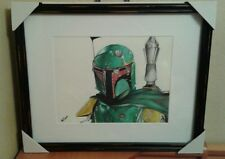 Original 11x14 Star Wars/Boba Fett drawing done by Instagram artist ARTuro