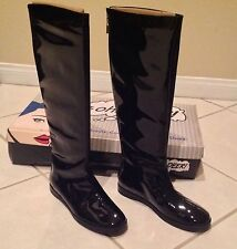 BRAND NEW OH DEER! BLACK KNEE HIGH ICE PRINCESS PATENT LEATHER WINTER BOOTS 7 M