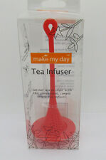 Make my day Silicone Tea Infuser red with Drip Catcher