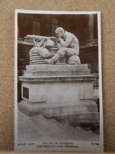 Postcard Portsmouth War Memorial ,The Sailor guardian real photo ,unposted.. XC2