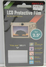 "2.5"" LCD Screen Protector Film - Matin - 1 1/2 x 2"" - NEW D695"