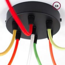 7 multi hole ceiling rose cord grip electrical cord mount holder roof outlet blk
