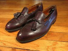 Alden 663 Men's 10.5 D Brown Burgunndy Tassel Loafers