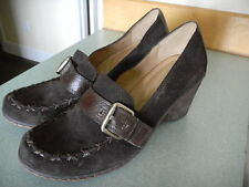 NATURALIZER N5 Comfort 'Whatsup' Brown Suede Leather Wedge Loafer 9.5 M