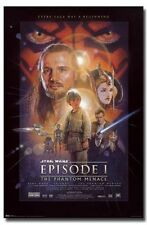 STAR WARS - THE PHANTOM MENACE POSTER - 22x34 EPISODE 1 LUCAS 9741