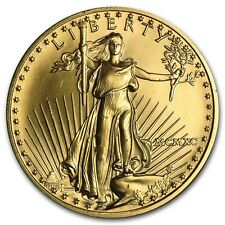 1990 1/2 oz Gold American Eagle BU (MCMXC) - SKU # 4722