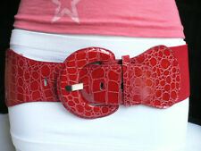 NEW WOMEN HOT RED SEXY FASHION BELT HIP ELASTIC HIGH WAIST STRETCH FABRIC XS S M