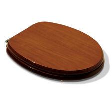 Sedile wc universale tavoletta ricambio colore legno noce lucido in legno MDF