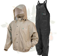 NEW 2XL  Frog Togs Frogg Toggs Khaki Pro Advantage Rain Suit Jacket and Bibs 2XL