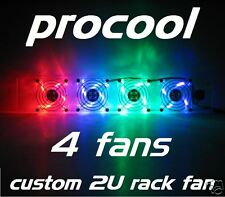ProCooL CUSTOM (2U) RACK MOUNT COOLING FAN (4) LED FANS