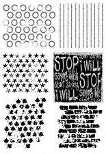 Premium craft marques ~ stop ~ A5 clair polymère timbres