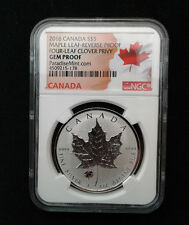 2016 Canada Silver Reverse Proof Maple Leaf w/ Clover Privy NGC - Gem Proof