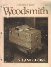 Woodsmith 1991 No 73 Steamer Trunk Splined Miter Collector's Cabinet & More