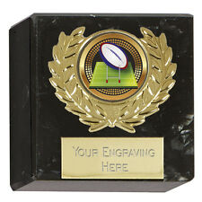 All Sport Trophy Award Prize  Rugby Galaxy Marble Block  FREE ENGRAVING