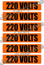220 Volt Voltage & Conduit Markers | Stickers | Decals | Labels Electrical 6x