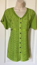 """Medium Women's Tunic Top Blouse Top Bust Size 40"""" Around Embroidered New"""