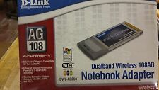 Brand NEW DLINK 802.11 a / g DualBand Wireless Notebook Adapter 108ag dwl-ag660