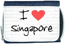 I Love Heart Singapore Denim Wallet