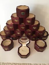 50 Octagonal Cherry Wood Ring Boxes with Acrylic Viewing Window