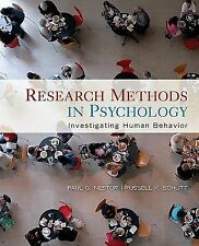 Research Methods In Psychology by Paul G Nestor