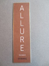 BOOKMARK CHANEL Allure Homme Promotional Advertising 1999