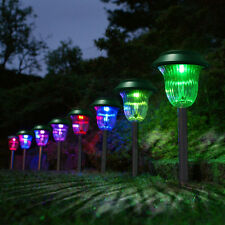Outdoor Plastic Solar Light Color Changing LED Lawn Garden Pathway 4X