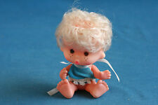 vintage small baby doll made in Hong Kong plastic 1970's