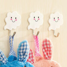 Hot Sale 3PCS White Cloud Self Adhesive Sticks On Hooks Kitchen Bathroom Towels