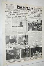 FAC-SIMILE A LA UNE JOURNAL PARIS SOIR 11/02 1934  PARIS EMEUTES DU 6 FEVRIER