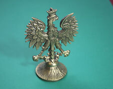 Beautifull VERY BIG POLISH BRASS EAGLE  officer cabinet table Poland - army WWII