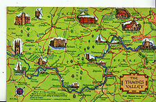 Map Postcard - Interesting Places in The Thames Valley   MB1756