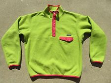 Vintage 90's PATAGONIA Synchilla Snap T Pullover Fleece Sweater Large USA