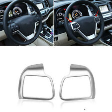 ABS Matte Steering Wheel Cover Trim 2pcs Fit For Toyota Highlander 2015 2016