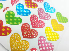75pcs Love Heart Colourful Reward Stickers Notes Diary Craft School Book kids