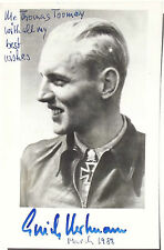 Erich Hartmann German All Time Leading Fighter Ace 352 Victories Signed Photo #2
