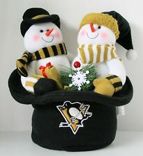 Pittsburgh PENGUINS Plush SNOWMAN TOP HAT Winter Christmas Holiday NEW