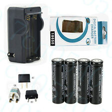 4X 6000mAh 18650 3.7V li-ion Rechargeable Battery For Torch Flashlight + Charger