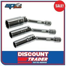 "SP Tools 3 Piece 3/8"" Drive Magnetic Spark Plug Spline Socket Set - SP22499"