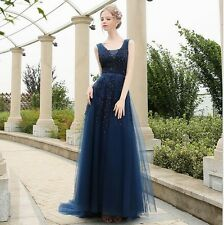 Women Long Chiffon Formal Lace Party Cocktail Evening Prom Wedding maxi Dress 3