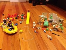 Playmobil lot~vintage~hospital~operating room~medical~playground~boat~divers~kid