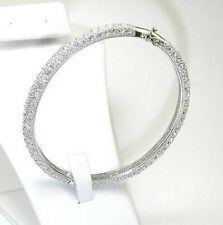 MICRO PAVE CUBIC ZIRCONIA ETERNITY DOME BANGLE BRACELET-925-VERMEIL-BRIDAL