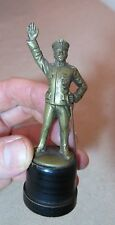 quality antique miniature gilt bronze officer man mini figure statue figurine