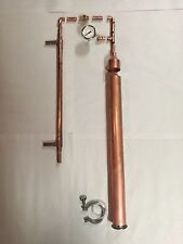 "DIY Beer Keg Kit 2"" Copper Pipe Moonshine Pot Still Distilling Column Tri Clamp"