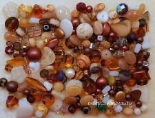 1/4 LB Pound Lot Czech Boho Glass Autumn Fall Earthtone Bulk Bohemian Lot Beads