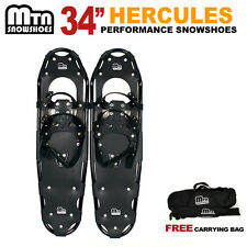 """New MTN 34"""" Black All Terrian Snowshoes up to 350 lbs /Free Carrying Tote Bag"""
