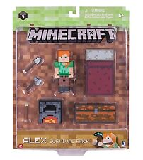 "Minecraft Series 3 Alex Survival Pack - 3"" action figure & accessories NEW"